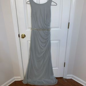 David'a Bridal High-Neck Ruched Bridesmaid Dress